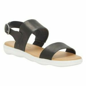 Lucky Brand Black Leather Sandal